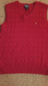 Ralph Lauren polo sweater vest boys size 12/14 . MY e worn 1x for a Christmas picture  Rome, 30161