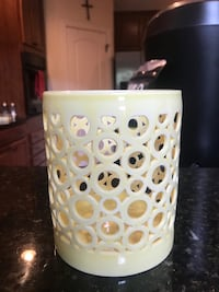 Yellow decorative candle holder