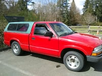 red single cab pickup truck 2320 mi