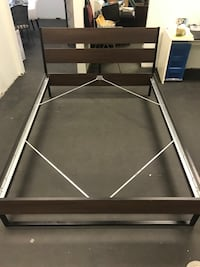 Brown and silver Queen size bed frame St. Louis, 63102