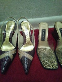 two pairs of assorted-color-and-style heeled sandals Miami Gardens, 33055