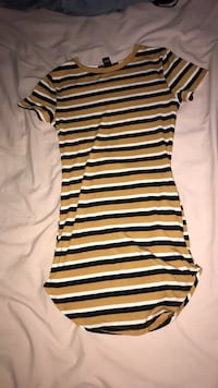 white and black stripe sleeveless dress Victoria, V8T 4E5