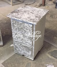 gray and white wooden 3-drawer chest Huddersfield