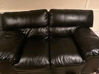 black leather love set and chair Mississauga, L4T 1Z2