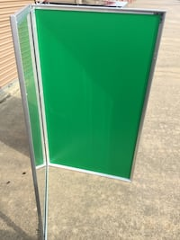 Home Theater brushed aluminum frame/W green backing,  Marquee Houston, 77070