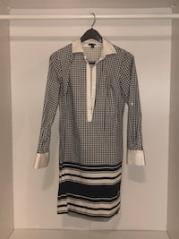 Navy and white Ann Taylor shirt dress  Philadelphia, 19132