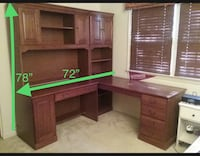 Wooden Computer Desk/Wall Unit Multi-compartment, Excellent Condition Springfield, 22153