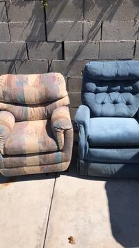 two gray suede sofa chairs Poway, 92064