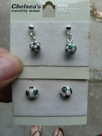 Soccer earrings  1637 mi