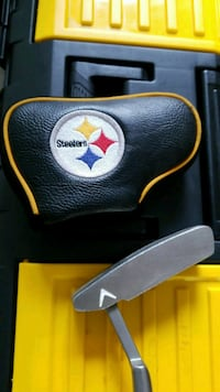 black and yellow Steelers leather bag Port Huron, 48060