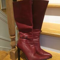 Pair of brown leather knee-high boots Laval, H7T 2R4