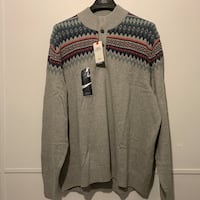 NWT Izod Fair Isle Mock Neck Men's Sweater 3XL Tall Vancouver, V6H 4H8