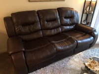 Leather sofa with theater style reclining seats Bethesda, 20814