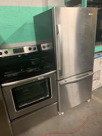 Ge stainless steel electric stove and fridge Baltimore, 21223
