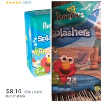 Pampers swaddlers disposable diaper pack Riverside, 92508