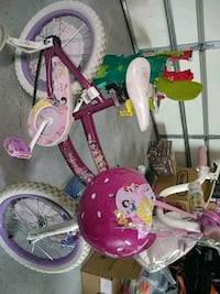 toddler's pink and white bike with training wheels Jefferson City, 37760