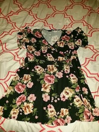 black and pink floral print dress Sweeny, 77480