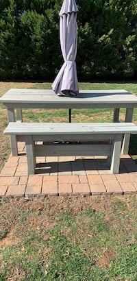 Outdoor farm table and bench