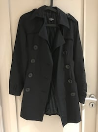 Women's black trench coat Billingstad, 1396