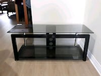 black glass TV stand with mount Surrey, V3W 3K3