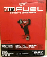 M18 Fuel Milwaukee  Surge 1/4 Hex Hydraulic Driver Tool Only. $70 Las Vegas, 89134