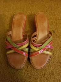 Italian open back multi colored shoes worn once si Greenwood Lake, 10925