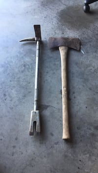 Firemans tool and double sided antique axe Hagerstown, 21740
