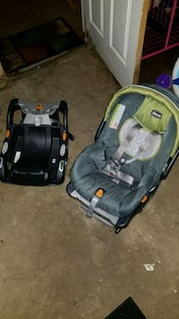 baby's gray and black car seat carrier Waco, 76706