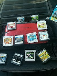 Nintendo 3DS XL with games shown