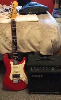 Squire Bullet Guitar w/ amp and extras