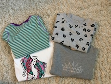 GIRLS LONG SLEEVED SHIRTS - 4 FOR $20