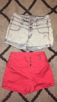 Size 6 high waisted shorts