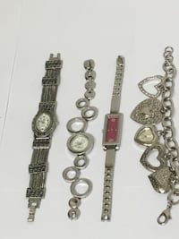 4 Silver tone Watches All For $25