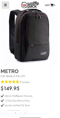 Wolffe pack Metro backpack Washington, 20019