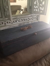 Antique tool box , country blue Elmira Heights, 14903
