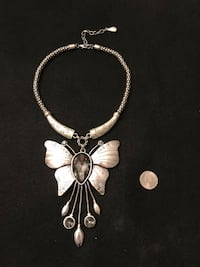 Large butterfly necklace. intricate piece with crystals Hialeah, 33014