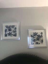 Two white and silver  framed paintings of flowers Yonkers, 10703