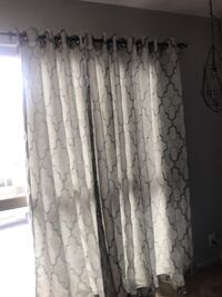 white and gray floral window curtain San Francisco, 94110