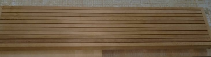 Brand new Sauna cedar bench