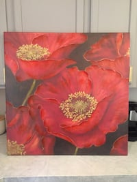 red flowers painting Denver, 80218