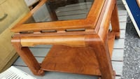 Glass top wooden end table Danielsville, 18038