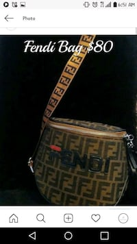 brown and black Fendi monogram leather handbag Washington, 20002