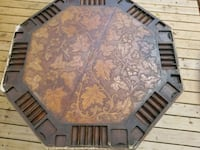 Poker table: wood & leather hand- carved Tampa, 33612
