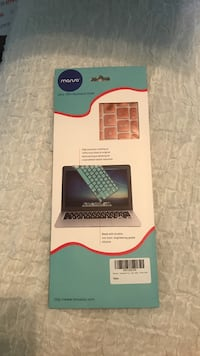 Unused rose gold Mac keyboard cover. Price is negotiable Frisco, 75033