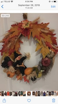 Handmade fall wreath Toronto, M3M 1W4