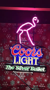 Coors Light The Silver Bullet neon signage Washington, 20024