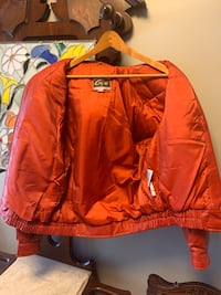 Vintage Global Identity Women's Red Leather Jacket New Albany, 47150