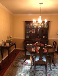 Solid cherry dining room set with china cabinet and side table. Lansdale, 19446
