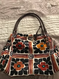 Black, brown, and red brighton leather hobo bag Labelle, 33935