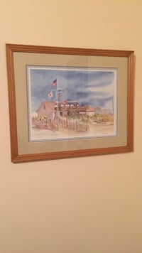 brown wooden framed painting of house New York, 11378